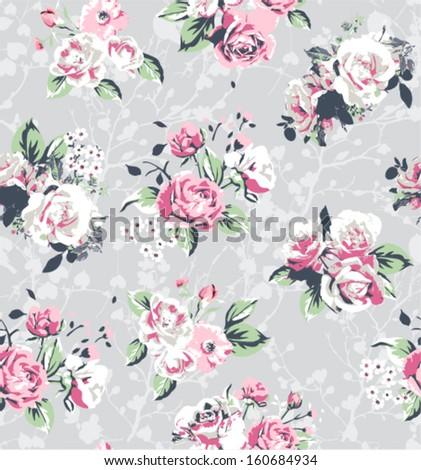 seamless flower vector pattern