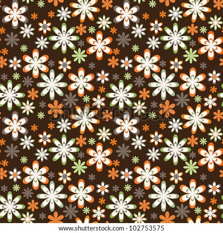 Seamless flowers background vector