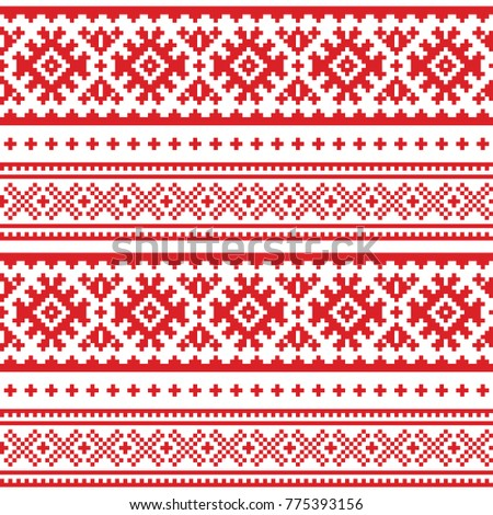 seamless folk art pattern