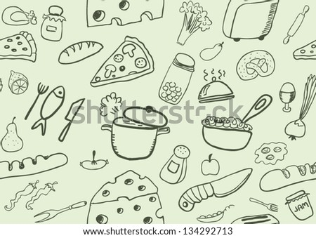 Seamless Food Icons