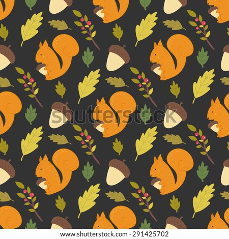 seamless forest pattern with