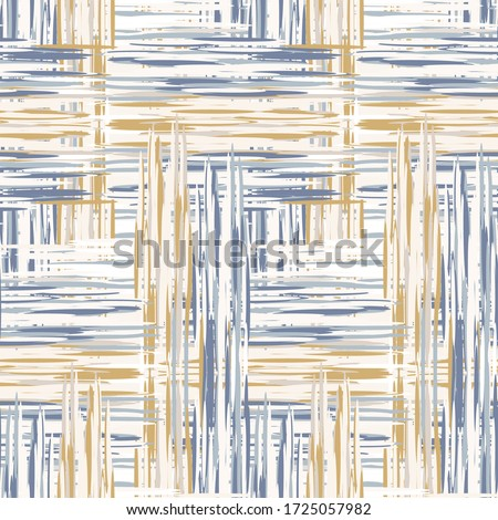 Seamless french blue woven texture seamless vector pattern. Linen shabby chic style. Rustic kitchen woven texture  background. Farmhouse country home decor swatch. Gingham weave textile allover print