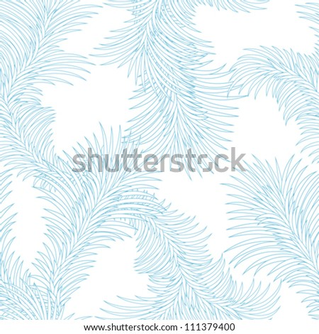 Seamless frost ice pattern. Abstract winter texture.