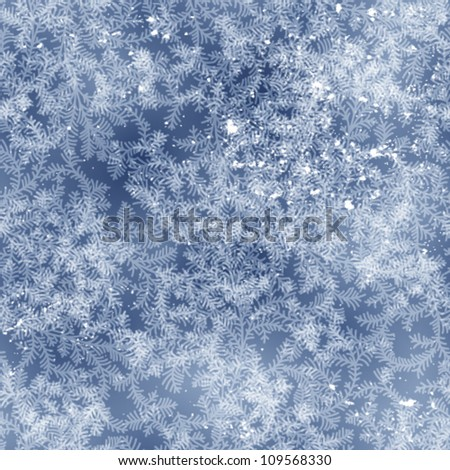 seamless frost pattern on