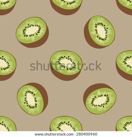 seamless fruits pattern with