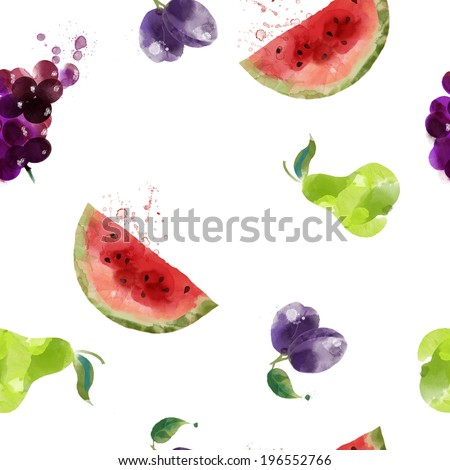 seamless fruits texture pattern