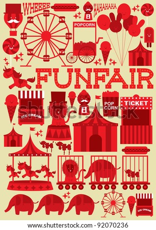 seamless fun fair vector/illustration