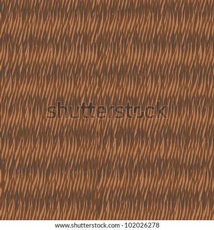 Seamless fur brown pattern, wood - stock vector