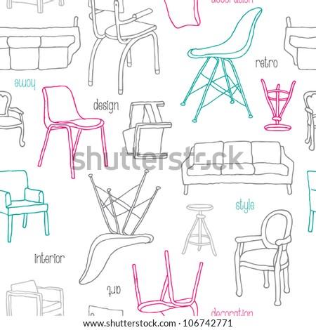 seamless furniture chair sofa