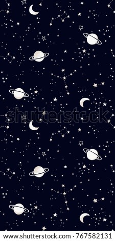 Seamless Galactic / Space Pattern in Vector
