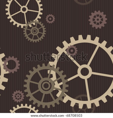 Seamless gear. - stock vector