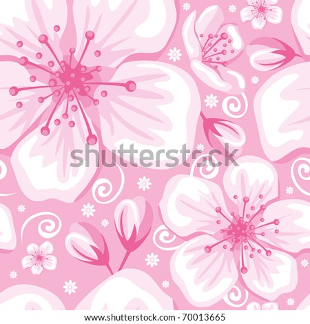 Seamless gentle spring flower background