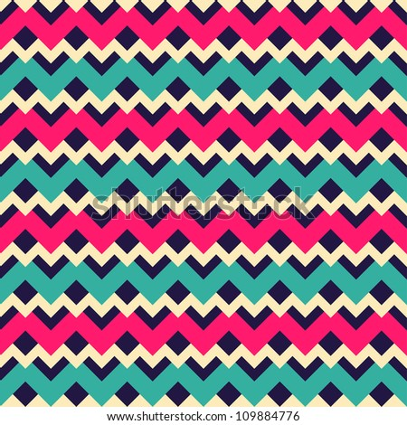 Seamless geometric abstract pattern with zigzags. Can be used in textiles, for book design, website background.