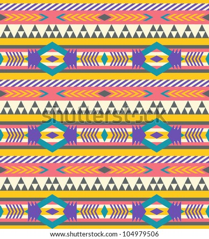 Seamless geometric aztec pattern #2