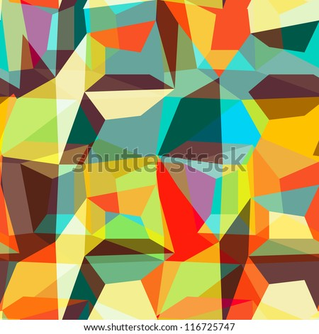 Seamless geometric background pattern, vector
