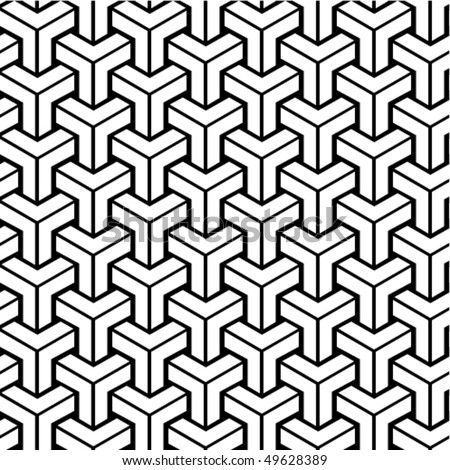 Seamless geometric black and white pattern. To see similar patterns, please visit my gallery :)