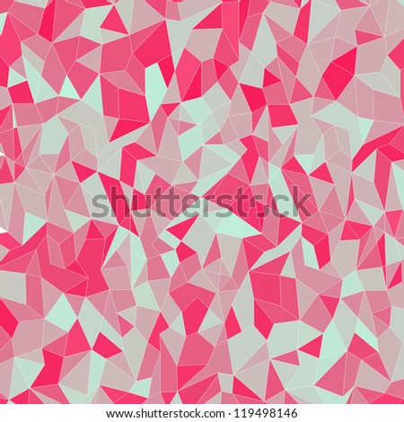 Seamless Geometric Colorful Pink Pattern Vector Background