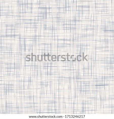 Seamless geometric cross grid pattern. French blue linen shabby chic style. Rustic kitchen woven texture  background. Interior wallpaper home decor swatch. Modern gingham check textile all over print  Foto stock ©