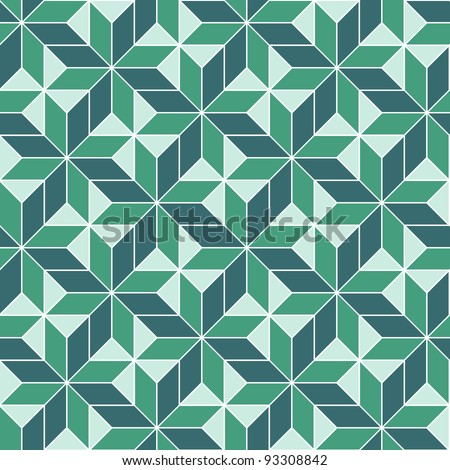 seamless geometric 3d abstract pattern. Colorful vector illustration