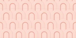 Seamless geometric 3d luxury background. Art deco modern vector pattern. Design element gold gatsby fan frame. Nouveau retro golden backdrop. Stylish abstract classic gatsby texture