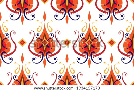 seamless geometric fabric