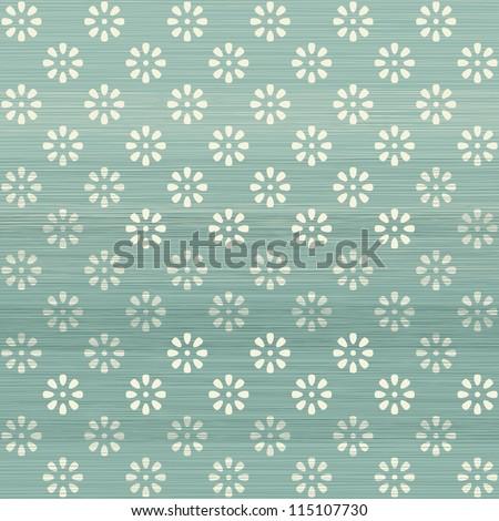 seamless geometric flowers pattern in retro blue