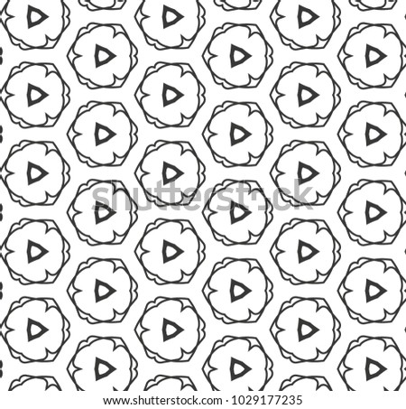 Seamless geometric ornamental vector pattern #1029177235