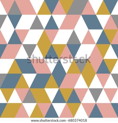 Seamless geometric pattern. Abstract triangle geometrical background Vector illustration. geometric mosaic art abstract with triangle background. Infinity geometric pattern.
