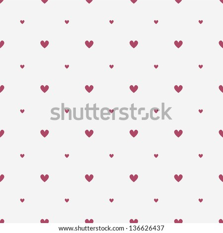 Seamless geometric pattern. Diagonal hearts. vector repeating texture