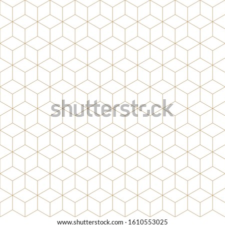 Seamless geometric pattern, great design for print, lasercutting, engraving,wrapping.Pattern background vector.Gold and white.Fine lines