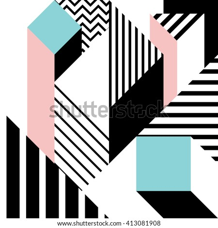 seamless geometric pattern in