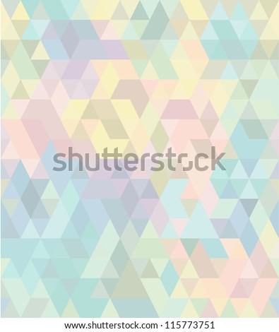 Seamless geometric pattern in pastel tints #2 - stock vector