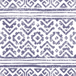 Seamless geometric pattern. Print for your textile. Ethnic and tribal motifs. Gray and white ornament. Grungy texture. Vector illustrations.