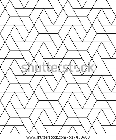 Seamless geometric pattern. Repeating vector motif.