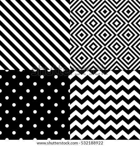 stock-vector-seamless-geometric-pattern-set-in-black-and-white