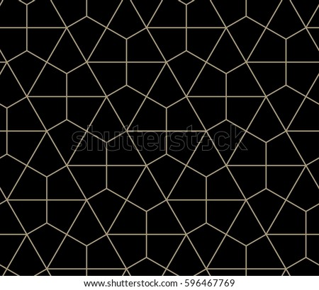 Seamless geometric pattern simple flat vector illustration. Lined geometric black seamless pattern.
