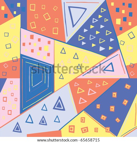 seamless geometric pattern; vector