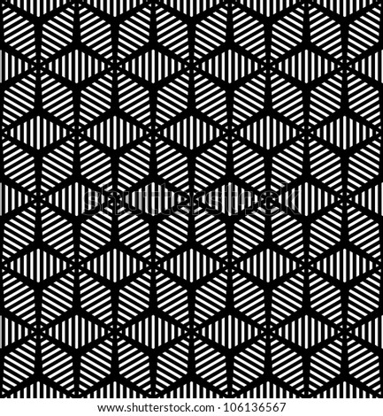 Seamless geometric pattern. Vector art.