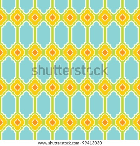 Seamless geometric pattern. Vector oriental background