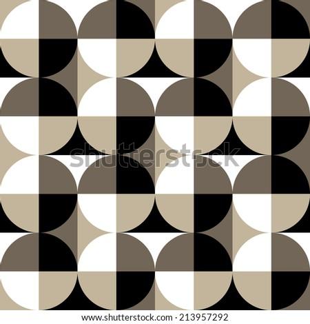 Seamless geometric pattern with quarter circle
