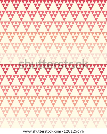 Seamless geometric pattern with red gradient - stock vector