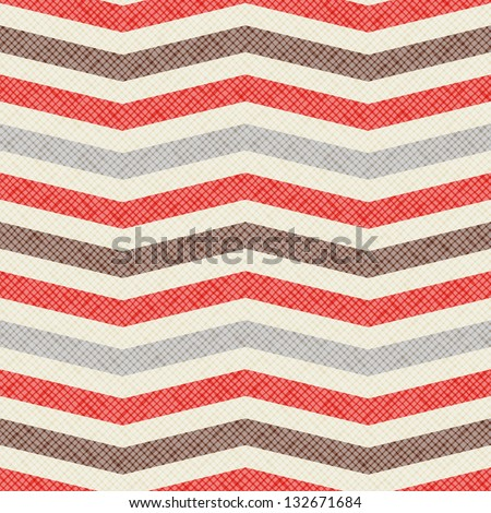 Seamless geometric pattern. Zig zag stripes. Vector fabric texture