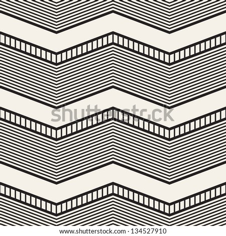 Seamless geometric pattern Zig zag stripes Vector graphic texture
