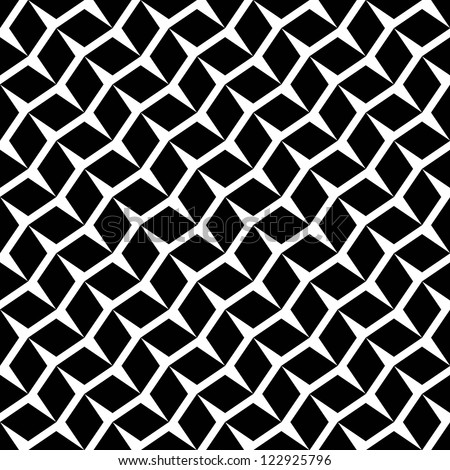 Seamless  geometric rhombus pattern black and white