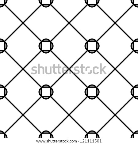 Seamless  geometric tile pattern black and white