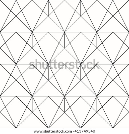 Seamless geometric. Vector seamless pattern. Geometric background with rhombus and nodes. Abstract geometric pattern.
