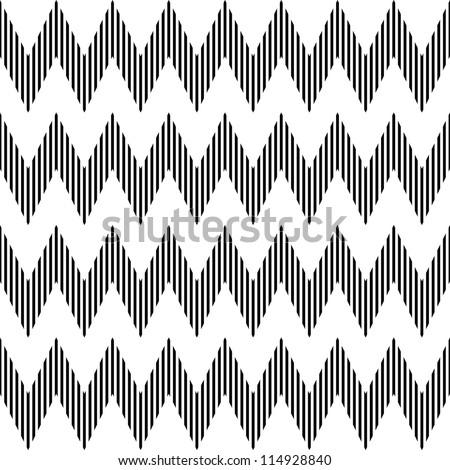 Seamless geometric zigzag pattern. Vector art.