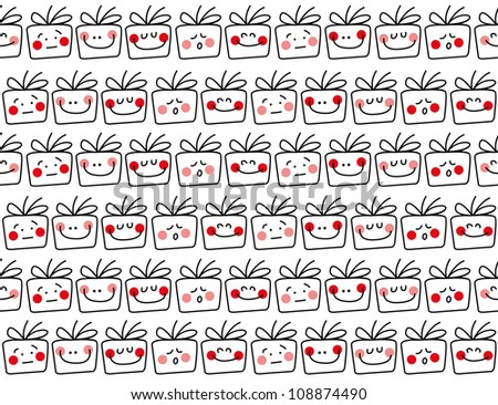 seamless gift pattern, funny gift collection, ideal for wrapping paper, wall paper