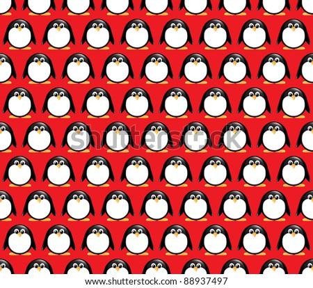 seamless glossy penguin pattern