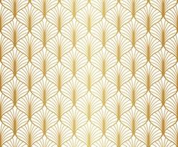 Seamless Gold Art Deco Pattern. Vintage geometric minimalistic background. Abstract Luxury Illustration.
